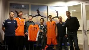 Fysiotherapie Volendam met spelers Basketbal jongens U18
